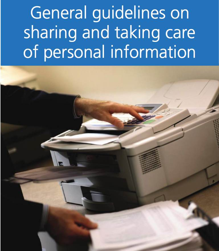 General Guidelines on Sharing and taking care of personal information
