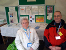 Margaret Rickson and Alan Yates at a health fair teaching others how to do it and sharing the Haughton Thornley Medical Centres way!