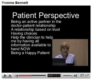 Yvonne Bennett on You Tube explaining to patients of Haugton Thornley Medical Centres what the benefits are to patients of having access to their GP electronic health records