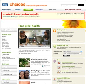 NHS Choices - Teen Girls' health