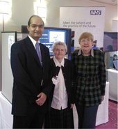 Dr Amir Hannan with Yvonne Bennet and Margaret Rickson - patients of Haughton Thornley Medical Centres