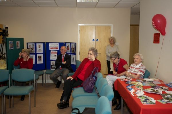 Members of Haughton Thornley Patient Participation Group watch and learn