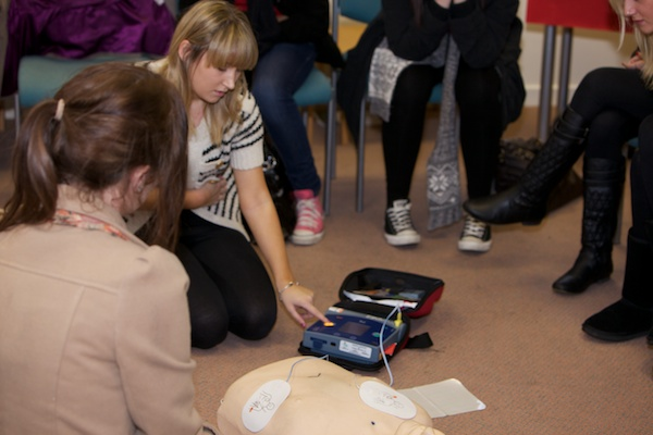 Using a defibrillator to kick-start the heart