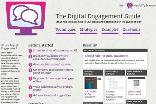 The Digital Engagement Guide - Ideas and practical help to use digital and social media in the public sector