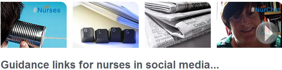 Guidance links for nurses in social media