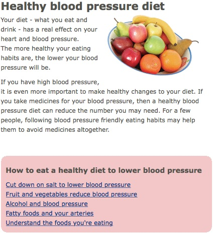 Healthy Blood Pressure Diet