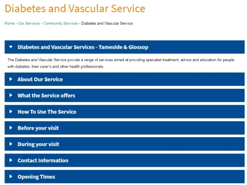 Tameside ICFT Diabetes and Vascular Service