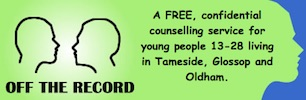 Off the Record for young people aged 13-28 in Tameside